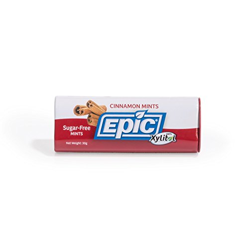 Epic Dental 100% Xylitol Sweetened Mints, Cinnamon, 60 Count (Pack of 5)