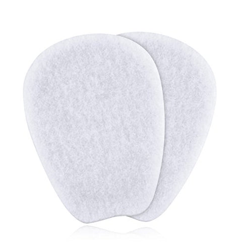 7 Pairs of Felt Tongue Pads Cushion for Shoes, Size Large