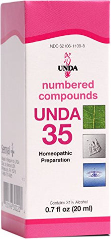 UNDA - UNDA 35 Numbered Compounds - Homeopathic Preparation - 0.7 fl. oz.
