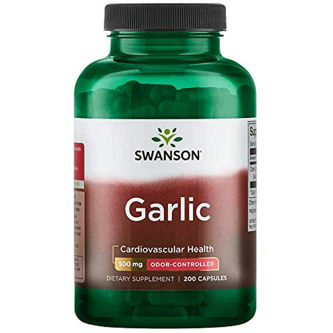 Swanson Odor-Controlled Garlic 500 Milligrams 200 Capsules