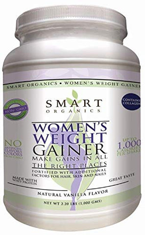 Bio Nutrition Smart Organics Women's Weight Gainer, 1000 Gram