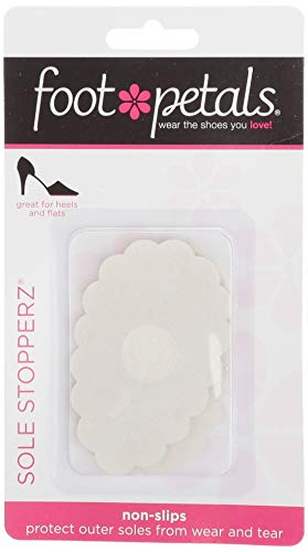 Foot Petals Womens Sole Stopperz, 2 Pair, Clear