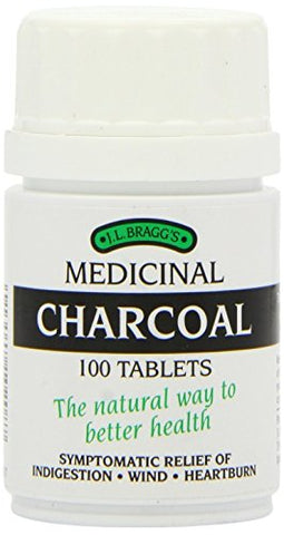 THREE PACK of Bragg's charcoal tablets 100