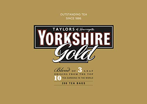 Taylors of Harrogate Yorkshire Gold Wrapped Tea Bags, 200 Count