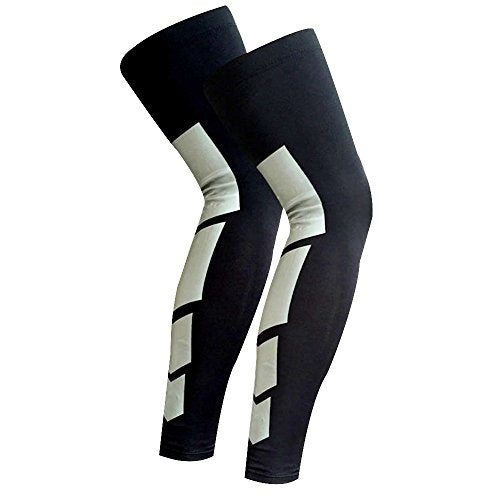Recovery Compression Leg Sleeves (Pair)   Sport Football Basketball Cycling Strech Leg Knee Long Sle