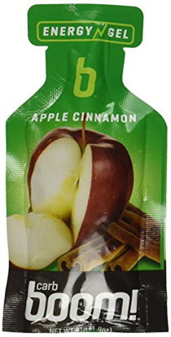 Carb Boom Energy Gel, Apple Cinnamon Caddy, 24-Count