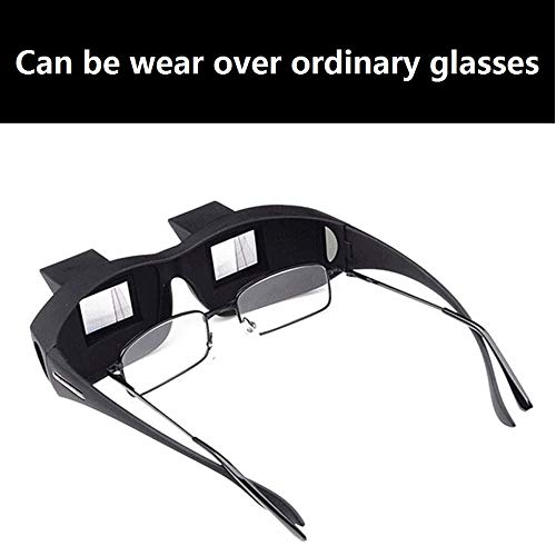 Flammi Prism Glasses Horizontal Glasses Lazy Spectacles Lie Down for Reading/Watching TV
