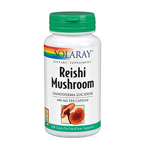 Solaray Reishi Mushroom 600mg | Healthy Immune, Cardiovascular & Brain Function Support | Energy & Mood Supplement | Lab Verified | 100 VegCaps