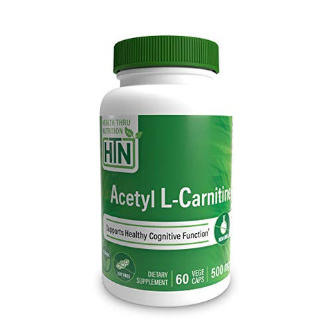 Acetyl L-Carnitine 500mg 60 Vegecaps - Vegan, Non-GMO and Clean Label