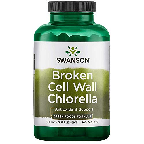 Swanson Broken Cell Wall Chlorella 500 Milligrams 360 Tabs