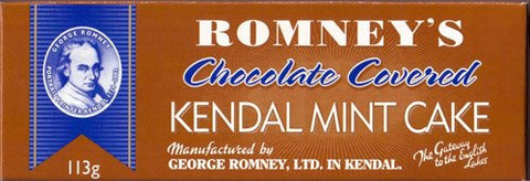 Romney's Of Kendal Mint Cake Chocolate Covered 113G / 3.98Oz X1