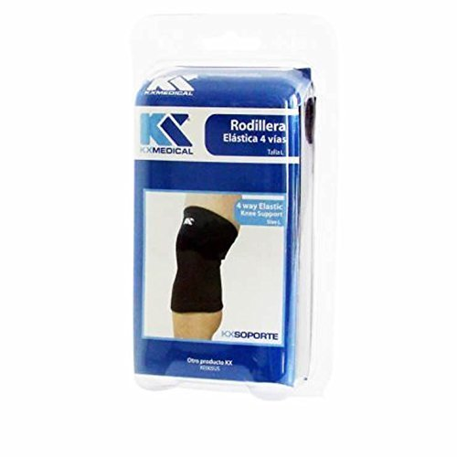 4-Way Elastic Leg Knee Support Brace Wrap Protector Knee Pads Sleeve (L)