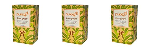 (3 PACK) - Pukka Three Ginger Tea| 20 Bags |3 PACK - SUPER SAVER - SAVE MONEY