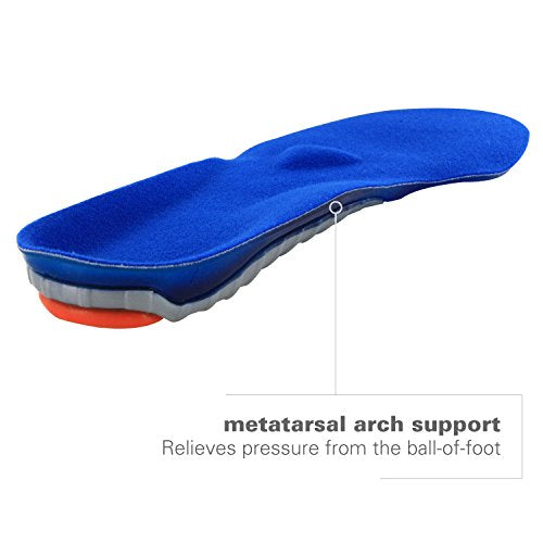 Spenco Gel Comfort Shoe Insole with Cushioning and Support, Men's 12-13.5