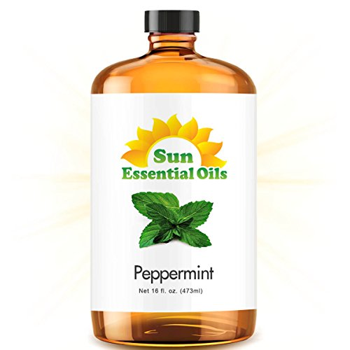 Peppermint Essential Oil (Huge 16oz Bottle) Bulk Peppermint Oil   16 Ounce