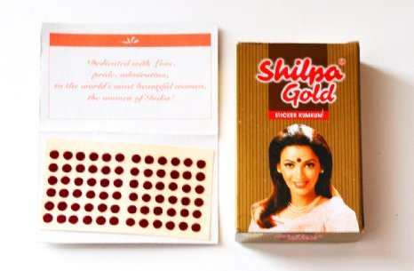 Shilpa Bindi Deep Red (8 Size)