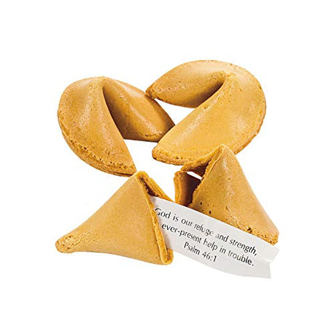 Bible Verse Fortune Cookies (50 individually wrapped) Scripture Candy