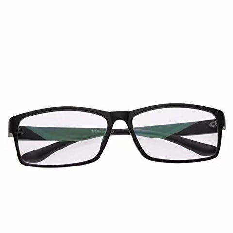 JCERKI Black Lightweight Frame bi-Focal Lens Reading Glasses 1.00 Men Women Fashion Light bi-Focal Lens Reading Eyeglasses