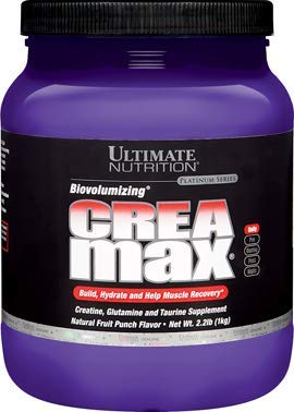 Ultimate Nutrition CreaMax Flavored Creatine Monohydrate Powder with 5g Creatine 5g Glutamine and 5g Taurine, Fruit Punch, 2.2 Pounds