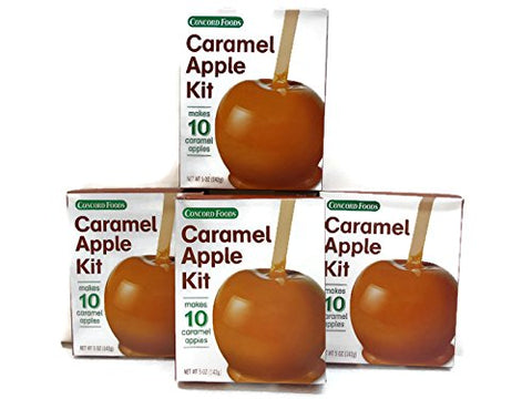 CONCORD CARAMEL APPLE KITS (4 Boxes of 10)
