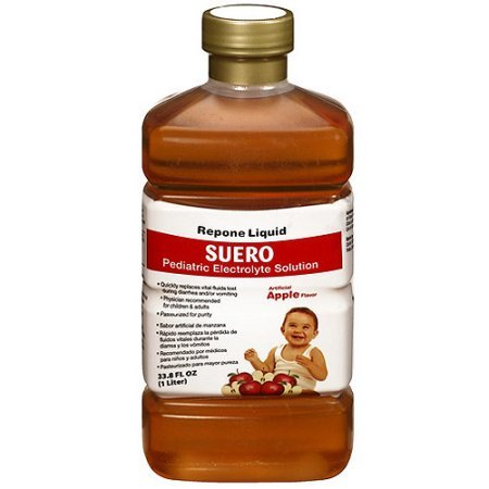 Repone Liquid Suero Apple Flavor Pediatric Electrolyte Solution (Pack of 4)
