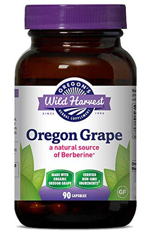Oregon's Wild Harvest, Certified Organic Oregon Grape, Berberine Supplement, 1140 mg, 90 Count