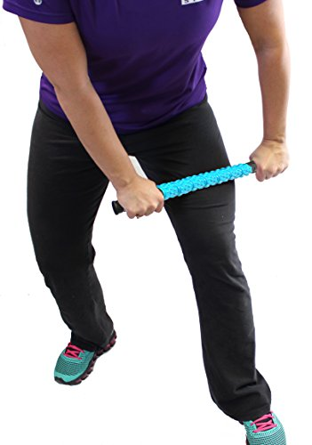 "The Muscle Stick Roller | Massage Roller for Runners & Athletes | Muscle Roller Stick""Life-Proof"" Strong Full Stainless Steel Core, ABS Plastic, Premium Star Textured Handles - Elite Hard Blue"