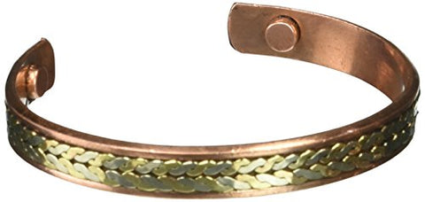 COPPER MAGNETIC BRACELETS Elegant Copper Magnetic Bracelet, 0.02 Pound