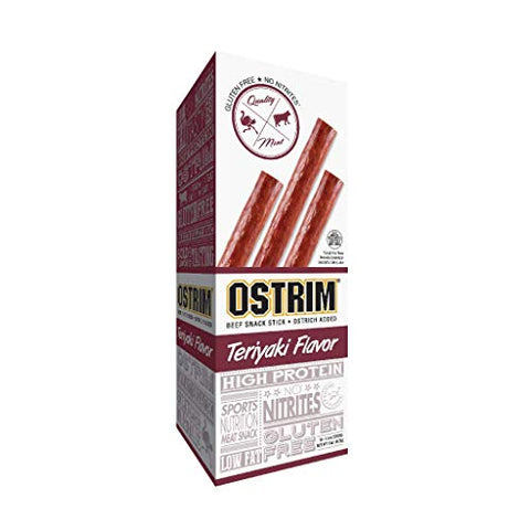 Ostrim Beef & Ostrich Snack Stick, Teriyaki - 1.5 Ounce (Pack of 10)