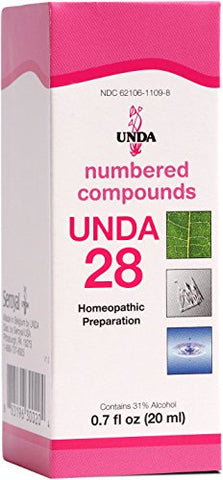 UNDA - UNDA 28 Numbered Compounds - Homeopathic Preparation - 0.7 fl. oz.