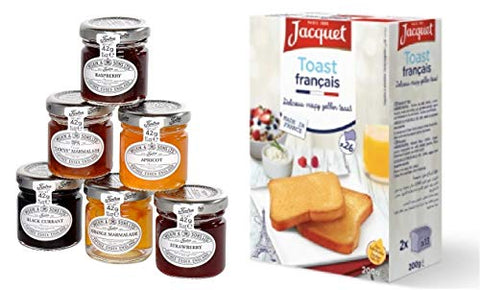 Breakfast Set - French Toasts + Jams & Marmalade Selection - Tiptree / Jacquet