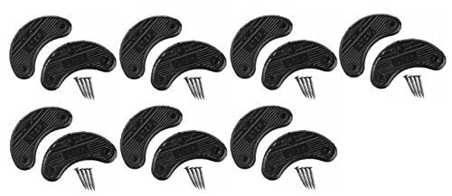 7 Pairs Traveler Men's Shoe Heel Plates Taps with Nails - Extra Large