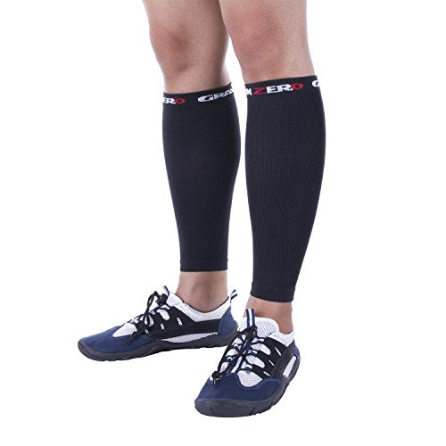 NonZero Gravity Calf Sleeves | Compression Wraps For Running And Cycling | Shin Splints And Cramps (Pair) (Large)