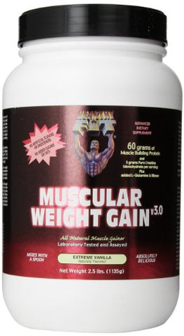 Healthy 'n Fit Muscular Wt Gain 2 2.5 -pound Bottle Vanilla,  Tub