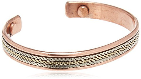 COPPER MAGNETIC BRACELETS Divergent Copper Magnetic Bracelet, 0.02 Pound