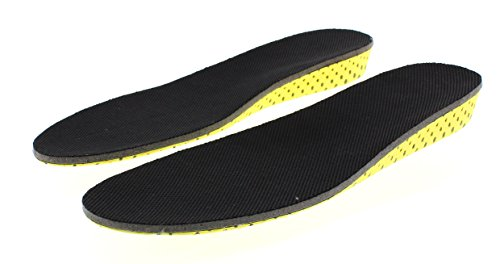 Height Increase Insole   Elevator Shoe Conversion   1 Inch Taller (Black) Invisible Increased Heel L