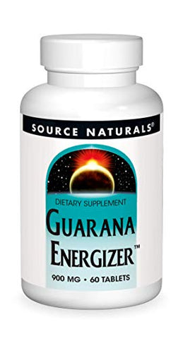 Source Naturals Guarana Energizer Dietary Supplement - Supports A Long Lasting Energy Boost - 60 Tablets
