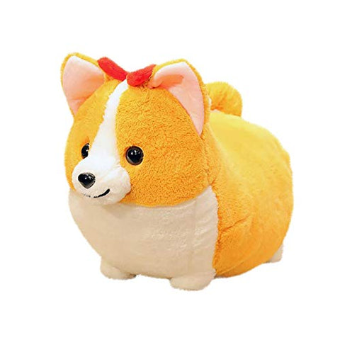 AWEAR Plush Toy,Kids Fluffy Animal Doll for Children Birthday Gift Christmas Halloween Home Decoration (Corgi B, one size)
