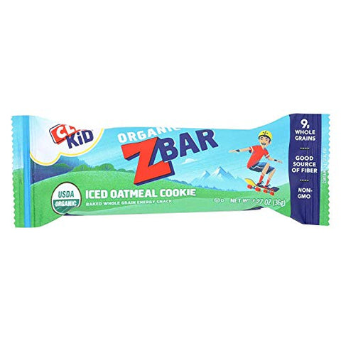 Clif Bar Organic Clif Kid Zbar - Iced Oatmeal Cookie - Case of 18-1.27 oz Bars