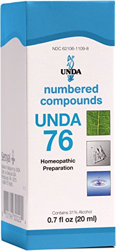 UNDA - UNDA 76 Numbered Compounds - Homeopathic Preparation - 0.7 fl. oz.