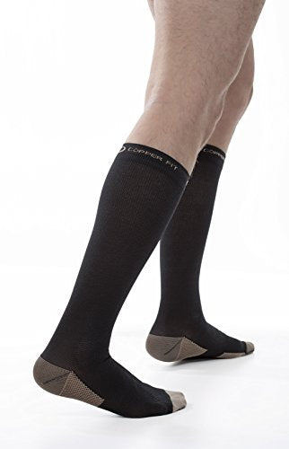 Copper Fit Energy Compression Knee High Socks, Black Small/Medium