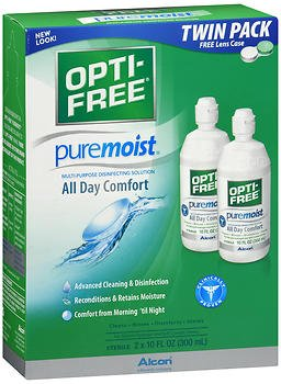 Opti-Free Puremoist Multi-Purpose Disinfecting Solution - 20 oz, Pack of 4