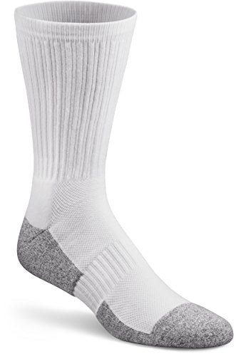 Dr. Comfort Diabetic Crew Socks, White, Large (1 Pair)