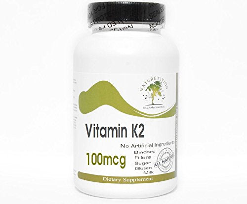 Vitamin K2 100mcg ~ 100 Capsules - No Additives ~ Naturetition Supplements