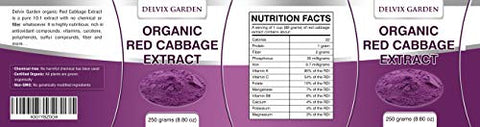 Cabbage Extract Powder Made with Pure Red Cabbage Powder, 250 grams Red Cabbage Powder