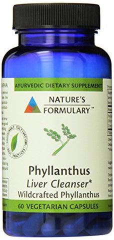 Nature's Formulary Phyllanthus, 60 Count