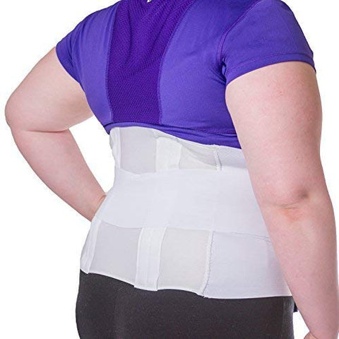 BraceAbility Plus Size 6XL Bariatric Back Brace | Obese Support Girdle for Lower Lumbar Back Pain in Big & Tall, Extra Large, Heavy or Overweight Men and Women (Fits 74