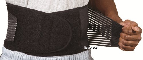 Flexibrace Back Support Brace Belt Lumbar Waist Double Adjust, Large