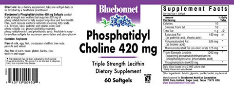 BlueBonnet Phosphatidyl Choline Supplement, 60 Count