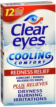 Clear Eyes Cooling Comfort Redness Relief Eye Drops - 0.5 oz, Pack of 5